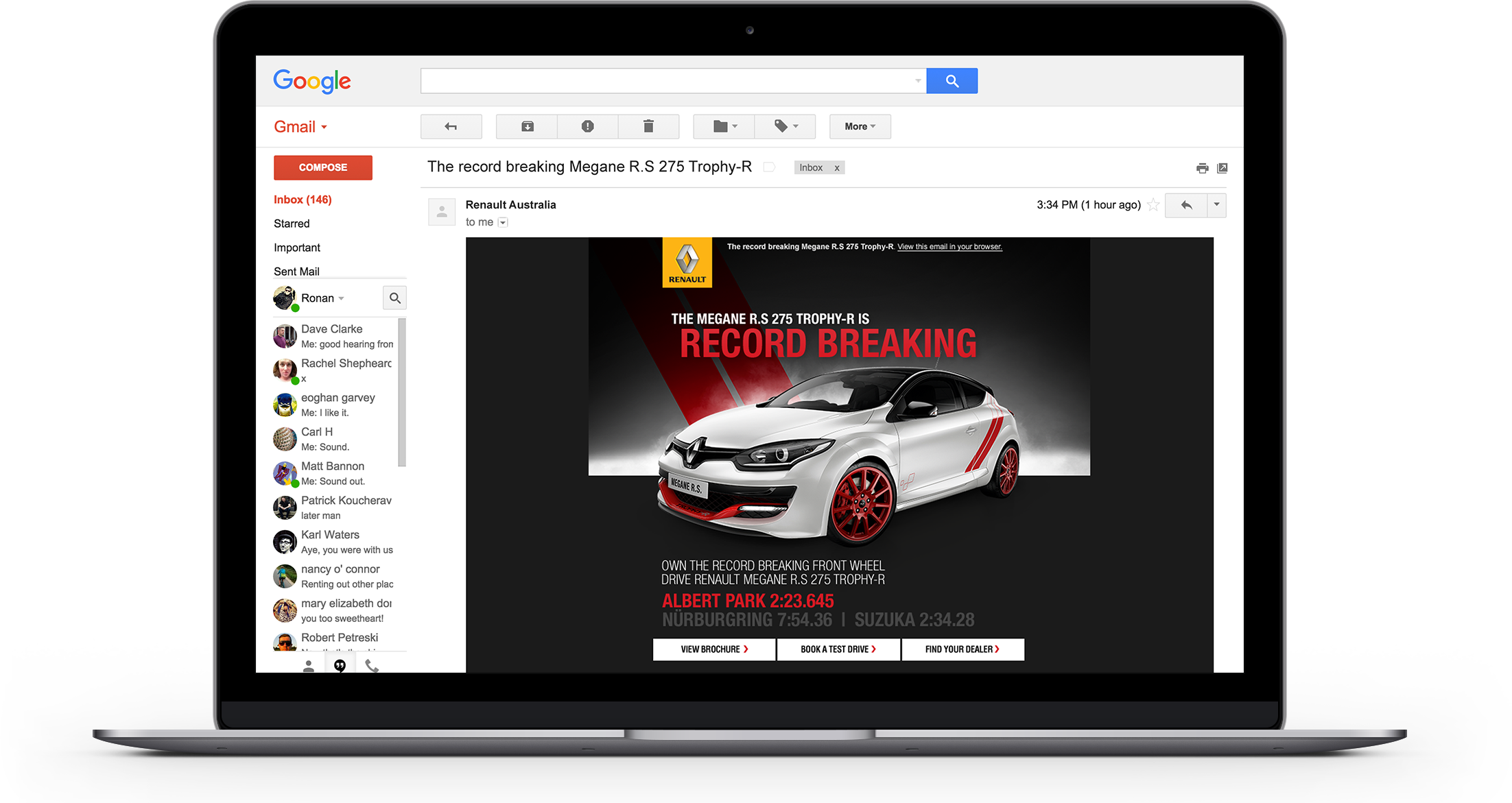 Renault RS Email Laptop