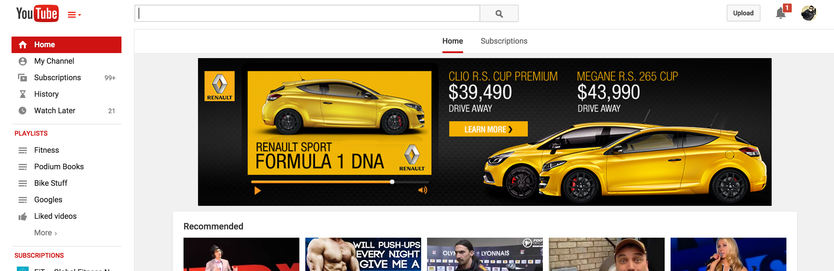 Renault RS Video Masthead